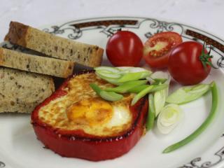Paprika mit Ei