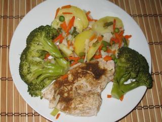 Einfache Hühnerbrust mit Broccoli