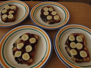 Ein schneller Nachtisch-ein Tipp zum Servieren