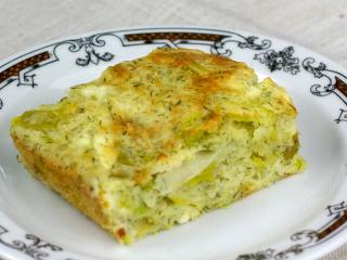 Lauchkuchen mit Käse