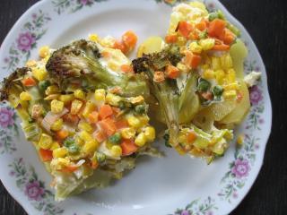 Gebackenes Gemüse mit Kartoffeln