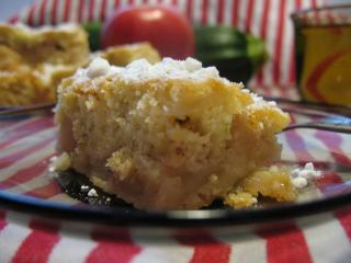 Apfelkuchen mit Zucchini.