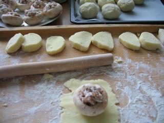 Champignons panieren