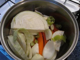 Vorbereitung der Gemüse