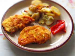 Hausgemachte Hühnerschnitzel