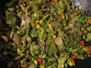 Gemüse mischen