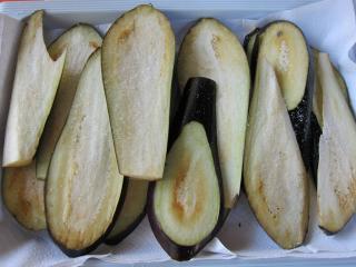 Zubereitung der Auberginen