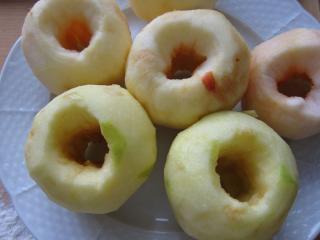 Zubereitung von Äpfeln