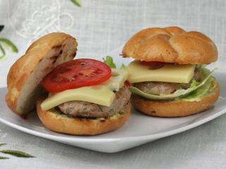 Schweinefleisch-Burger