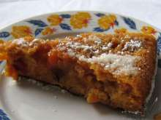 Verkehrter Nektarinen - Karamell - Kuchen
