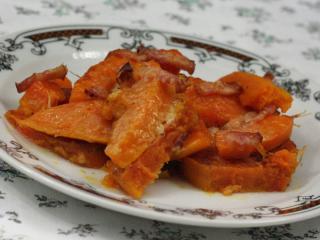 Überbackene Süßkartoffel mit Hokkaidokürbis