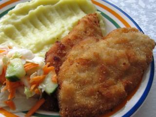 Panierte Hühnerschnitzel