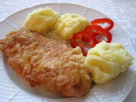 Gewendete Hühnerschnitzel