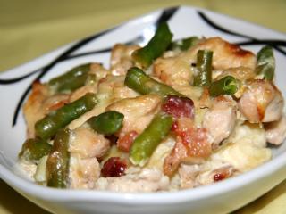 Eingebackene Gnocchi mit Hühnerfleisch