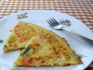 Kartoffel-Gemüse Omelette für Kinder