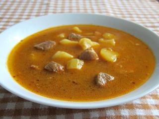 Schweinfleisch Suppe