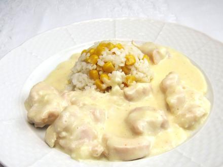 Hühnerbrust in Käsesauce