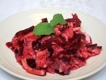 Rote -Bete - Salat mit Meerrettich und Apfel