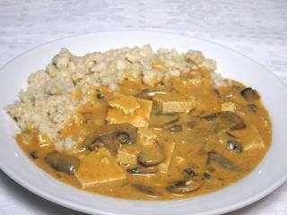 Tofu-Champignon Sauce