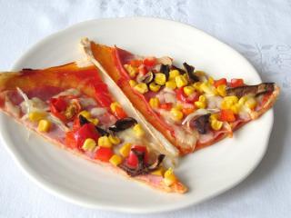 Pizza aus dem Blätterteig