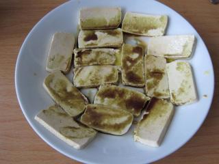 Zubereitung von Tofu