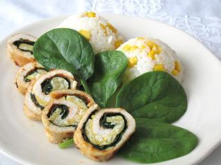 Gefüllte Hühnerrouladen mit Spinat und Ei