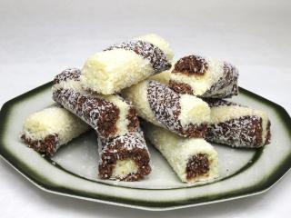Kokos-Stangen (ohne Backen)