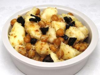 Birne-Apfel Salat mit Kichererbse