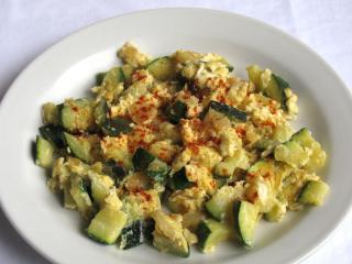 Zucchini mit Eier