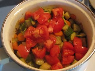 Gedämpftes Gemüse