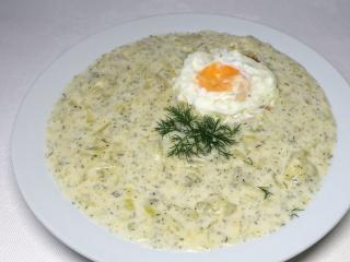 Kartoffel-Kürbis-Zugemüse mit Sahne