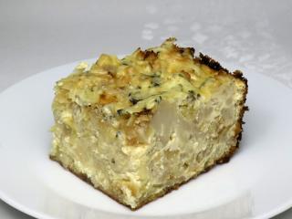 Eingebackener Karfiol mit Kartoffeln und Käse