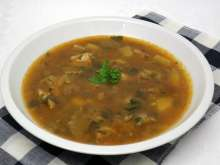 Seitling Suppe mit Knoblauch