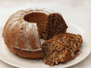 Schokoladen-Kokos-Napfkuchen mit Nüssen