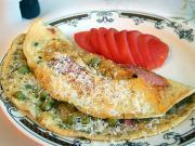 Omelett mit Erbsen