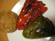 Gebratene gefüllte Paprikas