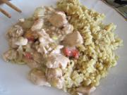 Hühnersauté mit Austernsauce