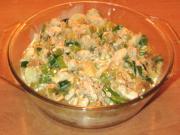 Überbackene Hühnerbrust mit Porree