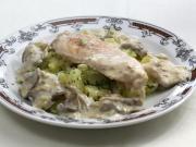 Hühnerbrust mit Austernpilz Sauce