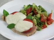 Hühnerbrust mit Tomaten und Mozarella