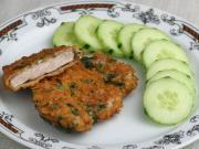 Hähnchenbrust in Cornflakes - Panade mit Basilikum