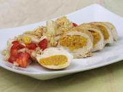 Hühnerbrust mit Kürbispesto gefüllt