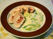 Hähnchenrouladen mit Porree - Sauce