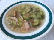 Zucchini-Bohnen Suppe