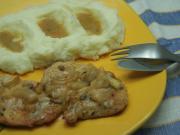 Hühnerfleisch in Zwiebelsauce