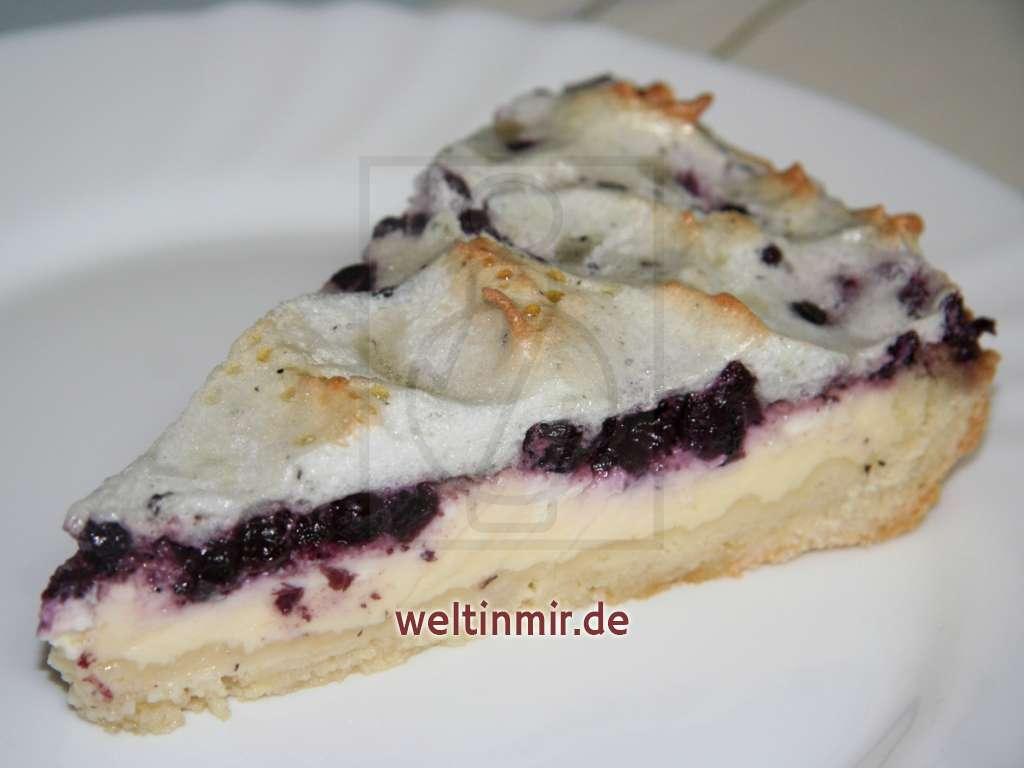 Quarkkuchen mit Heidelbeeren • Rezept   weltinmir.de