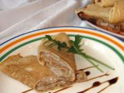Pfannkuchen mit Leberpastete