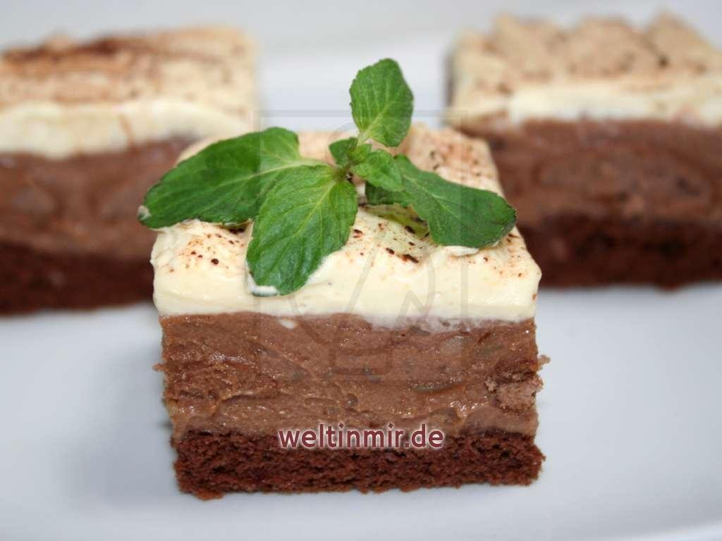 Nutellaschnitte mit Sahne • Rezept | weltinmir.de