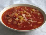 Tomatensuppe mit Weißkraut