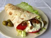 griechischer Hühner-Wrap